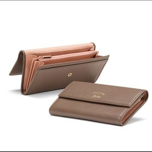 Gucci Swing Leather Continental Wallet, Brown/Pink