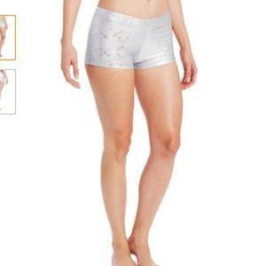 New Capezio Womens Boy Shorts - White Foil - M