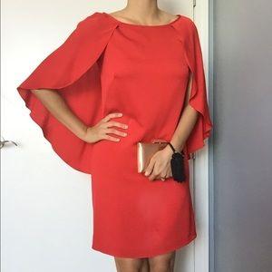 Milly silk cape dress