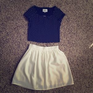 Tobi white mini skirt