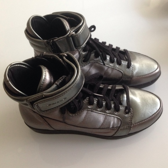 Vagabond Shoes - Vagabond Metallic High Top Sneakers