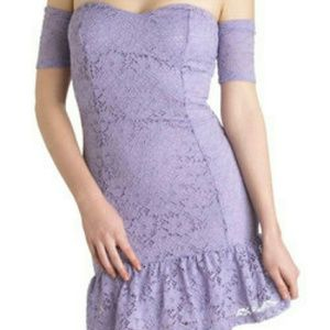 Lace embroidered light purple dress mystic