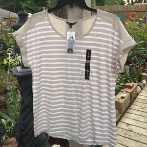Christian Siriano Tops - Christian Siriano grey striped Tee size large