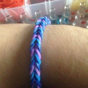 Jewelry - Rainbow loom fishtail rubber band bracelet