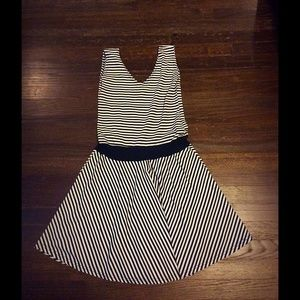 Vintage black and white striped dress.