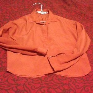 Burnt orange cropped blouse