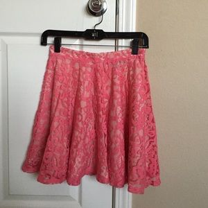 H&M Coral pink lace skirt