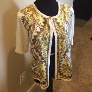 Talbots silk cardigan. SZ Medium.