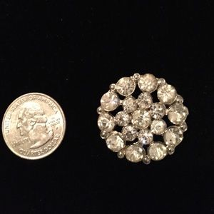 Vintage costume Crystal Button