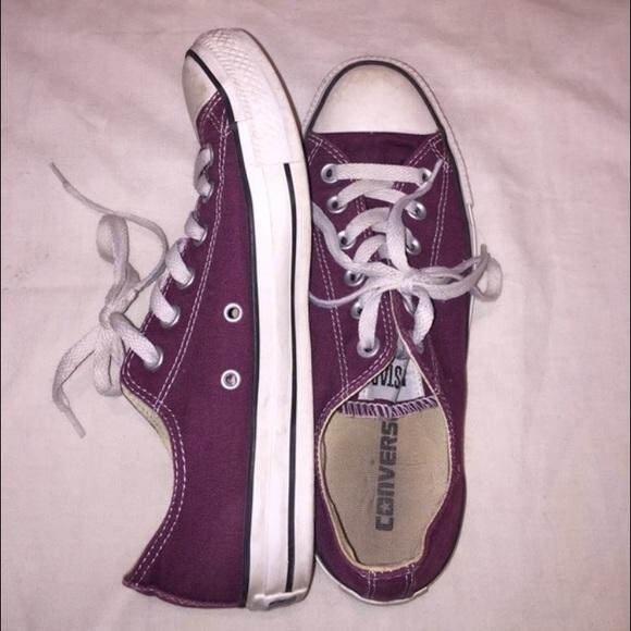 Converse Shoes   Plum Colored Converse