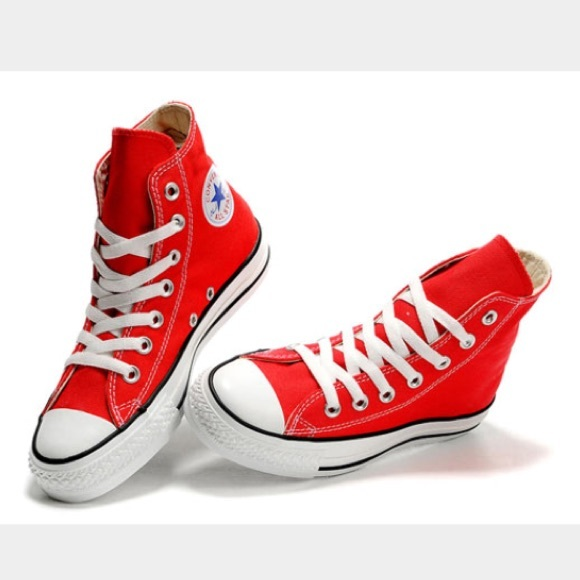 Converse Shoes   Red High Top Converse