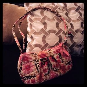 Vera Bradley Quilted Floral Adjustable Small Purse