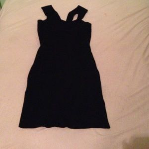 Black body-con dress