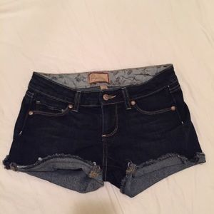 Dark wash Paige shorts