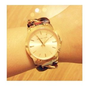 Michael Kors Nini Rose Gold Chain Link Watch