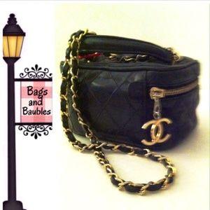 CHANEL Handbags - Rare! Vintage CHANEL 2-Way Vanity Case