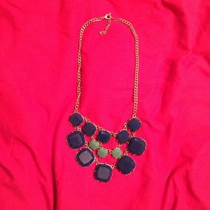Navy and Teal Statement Necklace