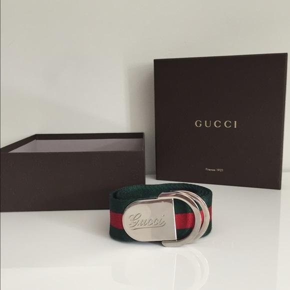 f19d5ccd44f Gucci Web Belt with Signature Gucci Buckle Unisex