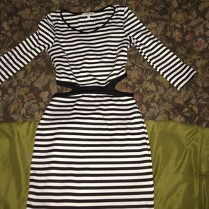 Black and white striped dress 🎀
