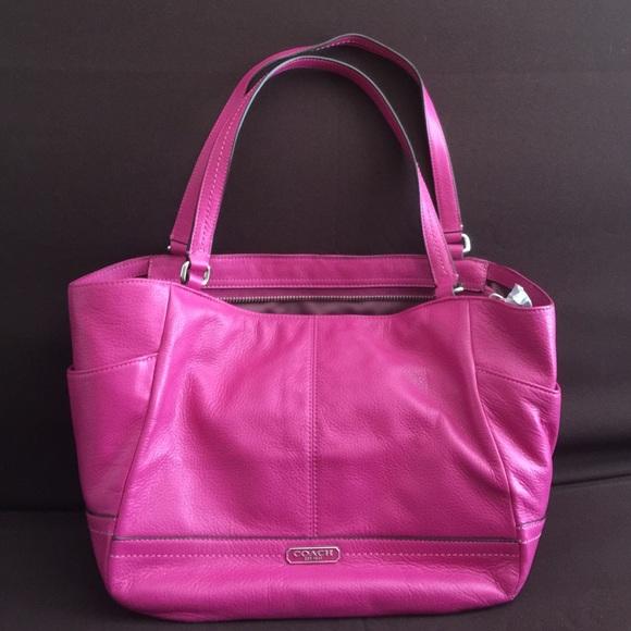 Coach Handbags - Coach Park Leather Carrie Tote-Authentic 3c2a8f7157eec