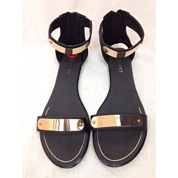 c14180c1ef9cf5 Black gold bar gladiator sandals