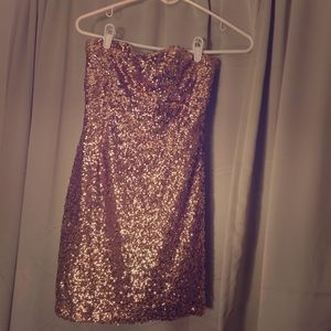 Rose Gold Sequin bodycon dress