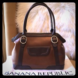Banana Republic Double Handle Satchel Bag