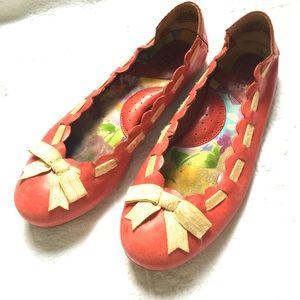 Born Shoes - Born salmon  leather flats
