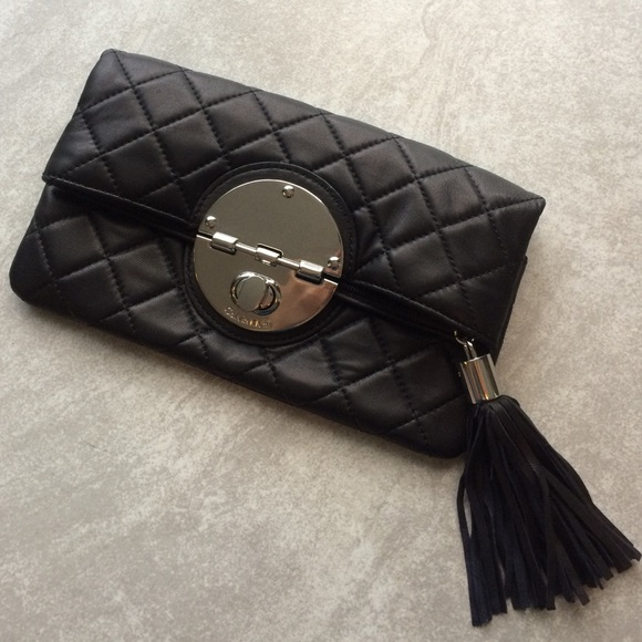 78% off Calvin Klein Handbags - Calvin Klein quilted leather ... : quilted leather clutch - Adamdwight.com
