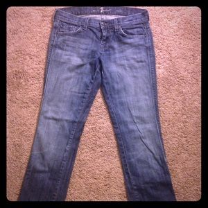 Dark wash 7FAM slim fit jeans