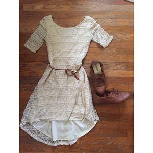 Adorable cream lace dress