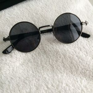 846eb9478 Ray-Ban Accessories | Circle Round Frame Black Sunglasses | Poshmark