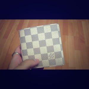 Authentic louis vuitton marco damier azur wallet