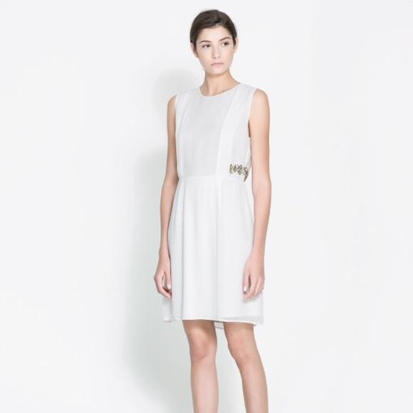 d886f419c4e2 Zara Handcrafted Grecian Inspired Dress
