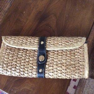 Kate Spade straw clutch
