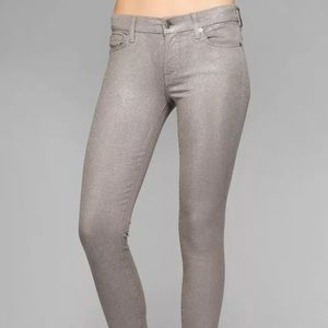 c55025b2 7 for all Mankind Jeans - 7 For All Mankind silver glitter jeans