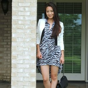 stylemoi  Dresses & Skirts - Zebra printed shirt dress