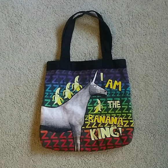 Charlie the Unicorn I am the Banana King Tote Bag