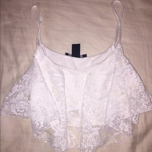 F21 lace crop top