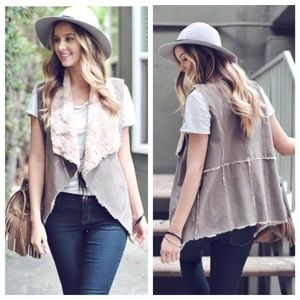 Cozy Soft Faux Fur Suede Vest