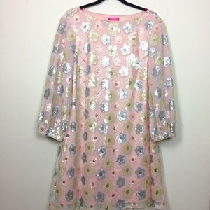 Isaac Mizrahi Dresses & Skirts - Isaac Mizrahi sequin floral shift party dress.