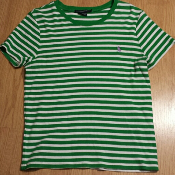 Ralph Lauren - Ralph Lauren Sport Green & White striped shirt from ...