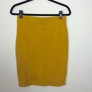 Forever 21 Dresses & Skirts - Forever 21 mustard jersey pencil skirt.