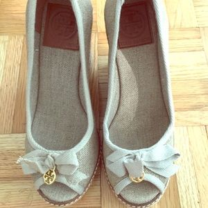 Brand new Tory Burch Jackie Espadrille Wedges