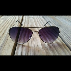 Aviator/pilot unisex Purple Fashion Sunglasses