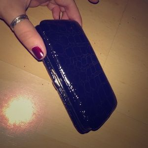 Black faux snake skin iPhone 4-4s case/clutch! 