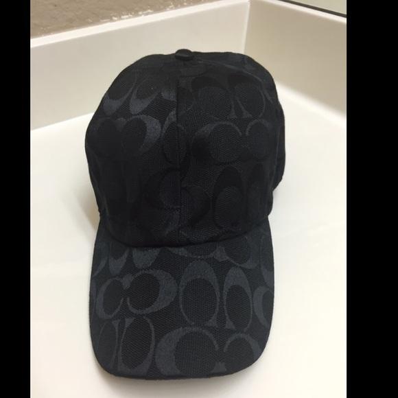 Coach Accessories - Coach black baseball hat 4158b22b7be