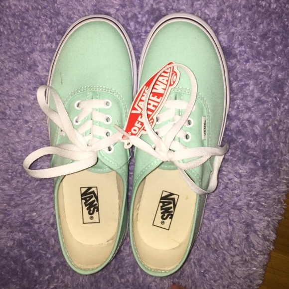 68 vans shoes mint green canvas vans from joey s