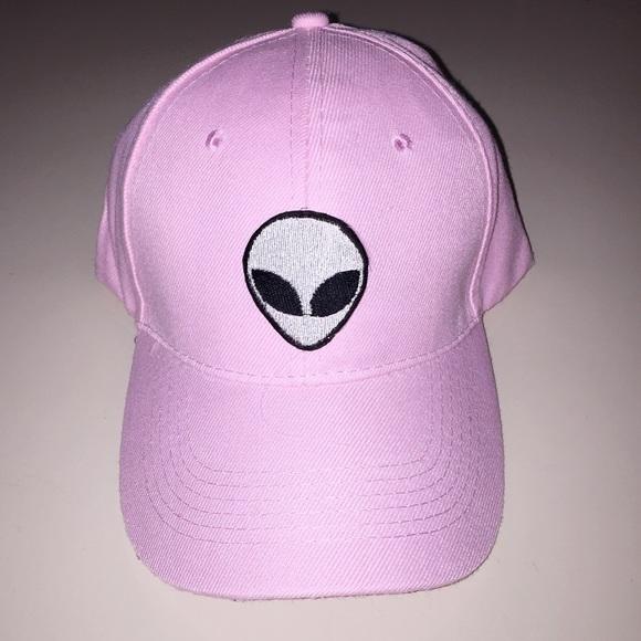 pink alien baseball cap hat brandy melville nostromo emoji