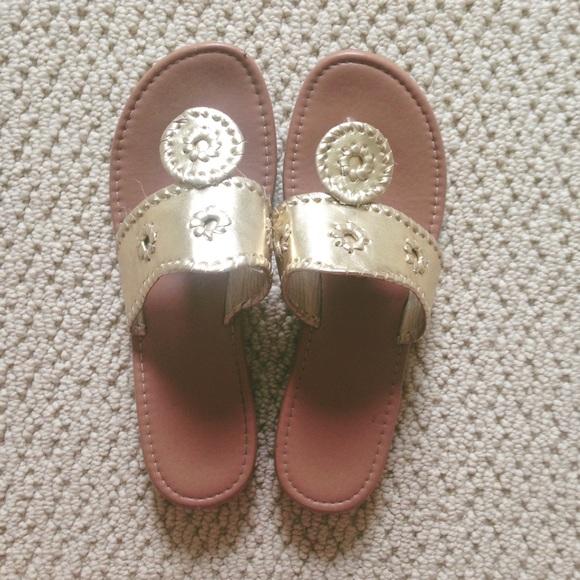 d9fe25e57495 Jack Rogers Shoes -  gold palms sandals